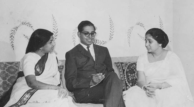 Asha Bhosle And Lata Mangeshkar With O.P Nayyar