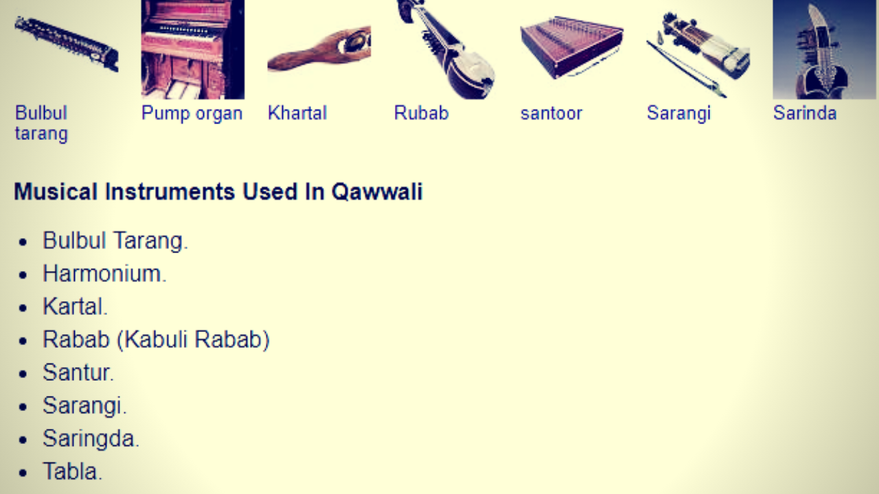 Qawwali Instruments