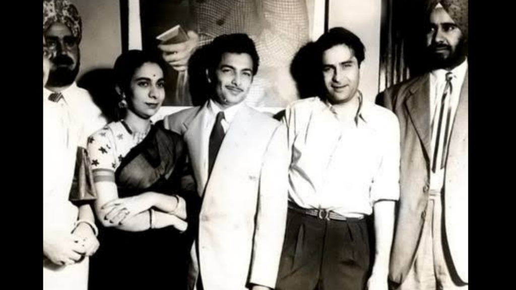 Madan Mohan With Wife And Raj Kapoor