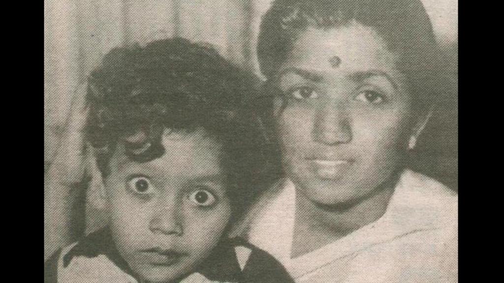 Little Bappi Lahiri With Lata Mangeshkar