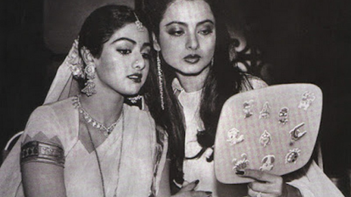 Young Sridevi And Young Rekha